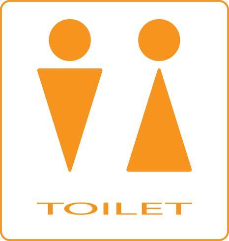 Segno di toilette vettore