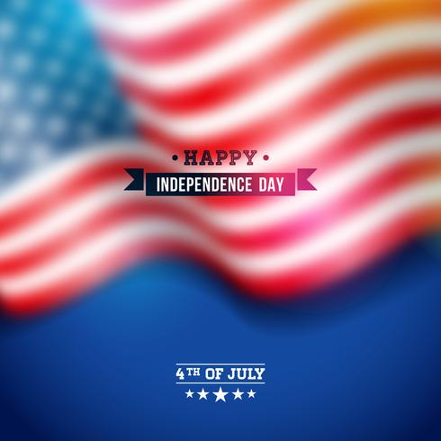 Independence Day degli Stati Uniti Vector Background