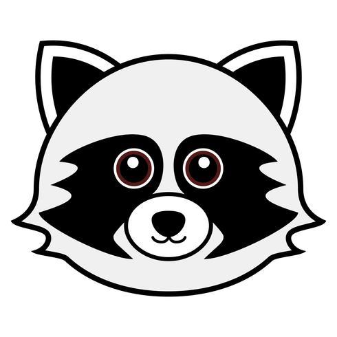 Cute Raccoon Vector. vettore