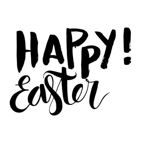 Iscrizione di grunge vintage felice di Pasqua vettore