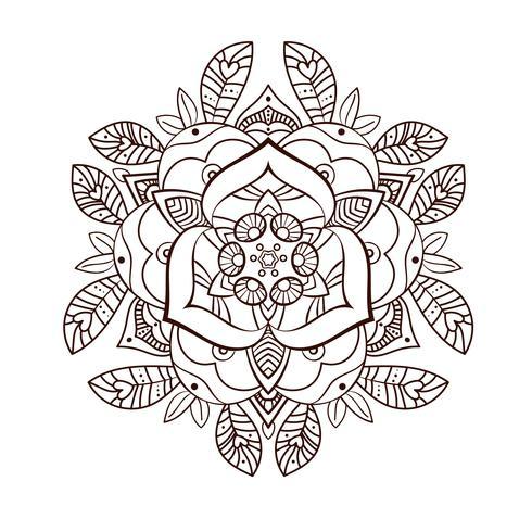 Bellissimo fiore ornamentale di peonia. Vecchio tatuaggio vettore