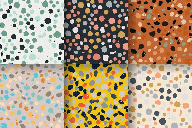 Seamless pattern di terracotta. Imitazione di un pavimento in pietra veneziana vettore