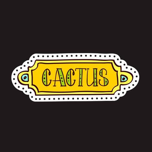 Toppe di moda, spille con cactus vettore