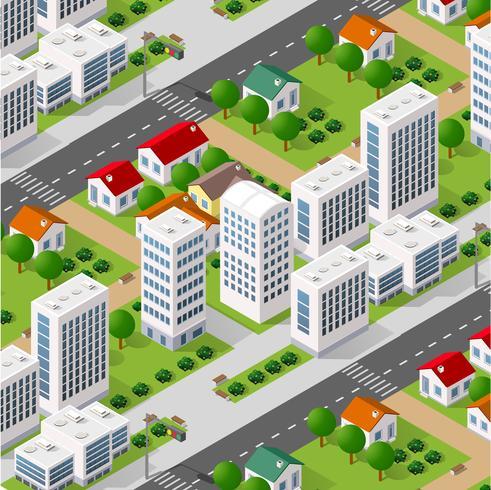 Città per lo sfondo del business vettore