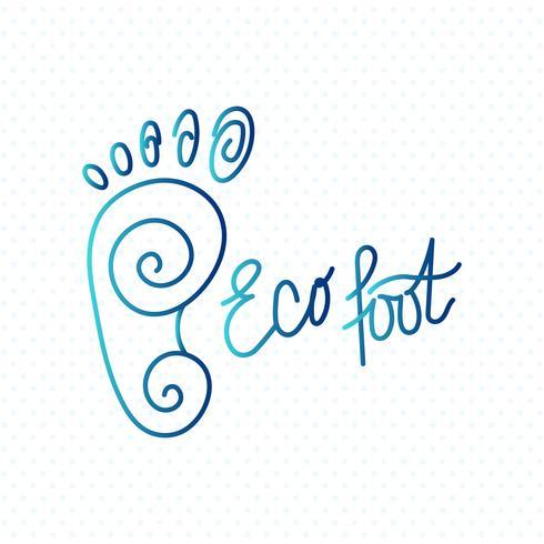 centro del piede ecologico. vettore