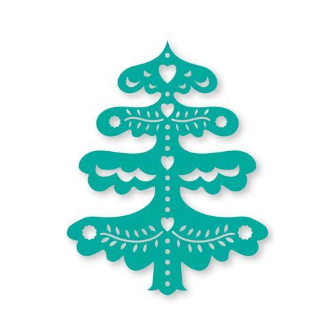 Albero di Natale. Modello di taglio laser vettore