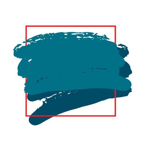 Vettore grunge astratto telaio aquarelle colore pennello tratto tratto a strisce elemento
