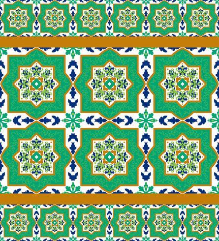 Piastrelle di ceramica classiche spagnole vettore