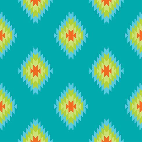 Reticolo senza giunte del tessile tracery folklorico messicano vettore