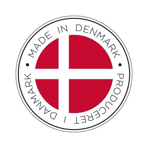 made in denmark flag icon. vettore