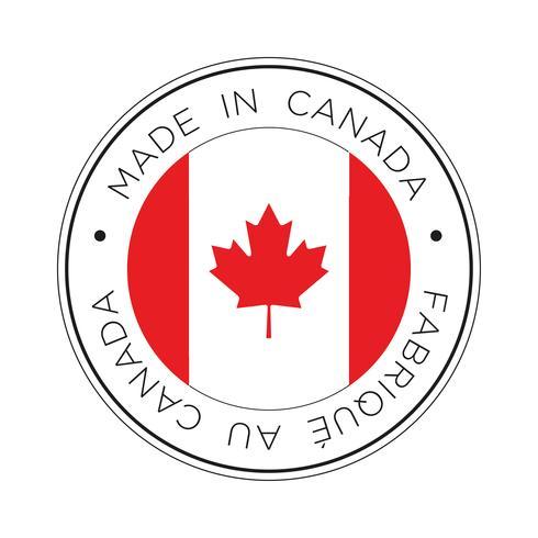 fatto nell'icona della bandierina del Canada. vettore