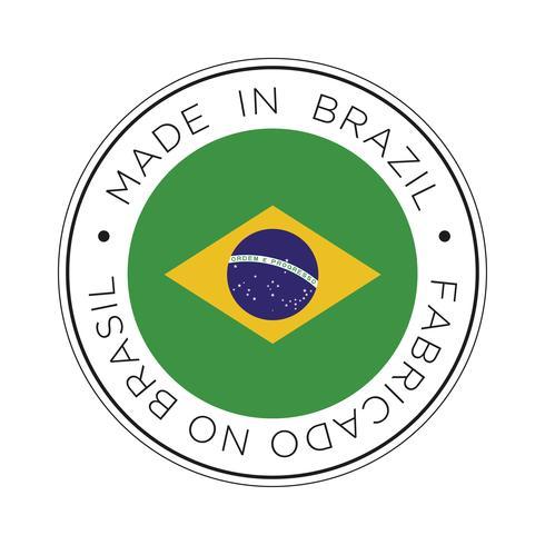 realizzato in icona bandiera brasiliana. vettore
