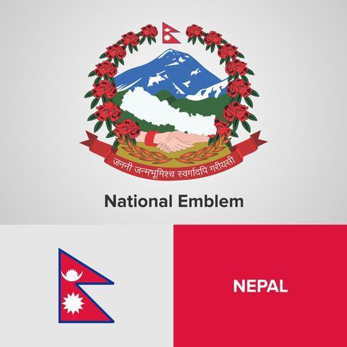 Emblema nazionale, mappa e bandiera vettore