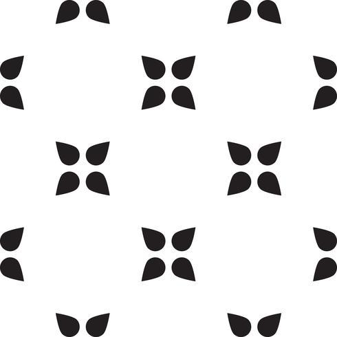 Modello triangolo geometrico senza soluzione di continuità. vettore