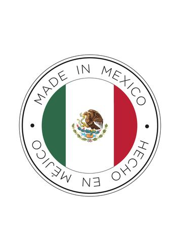 made in mexico flag icon. vettore