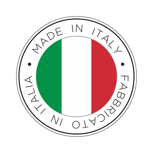 made in italy flag icon. vettore