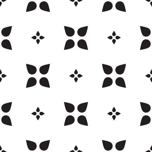 Piastrellatura universale in bianco e nero senza cuciture. vettore