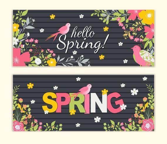 Sfondo di primavera con bel fiore colorato vettore