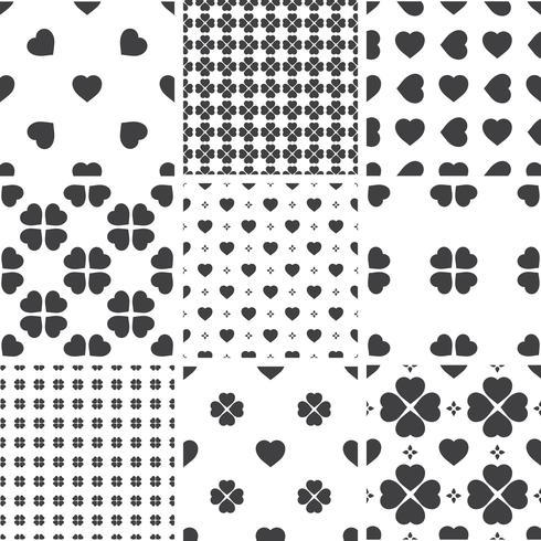 Set di modelli universali geometrici senza soluzione di continuità monocromatica, piastrellatura. vettore