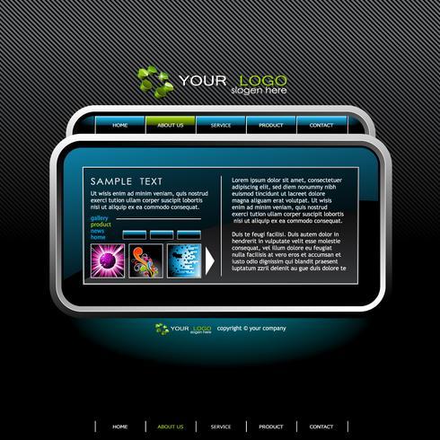 Modello di progettazione sito Web brillantemente. vettore