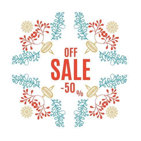 Luminoso banner di vendita di Natale vettore
