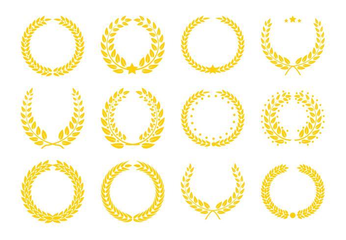 Icone dei trofei dei campioni. vettore