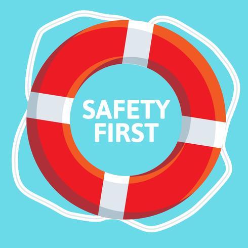 Icona di web piatto lifebuoy. vettore