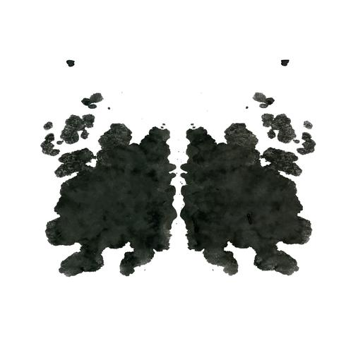 Test inkblot di Rorschach, sfondo astratto casuale vettore