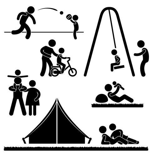 Pittogramma Padre Parent Parenthood Parenthood Icon Symbol Sign. vettore