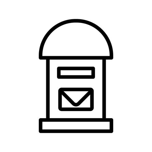 Icona di casella postale vettoriale