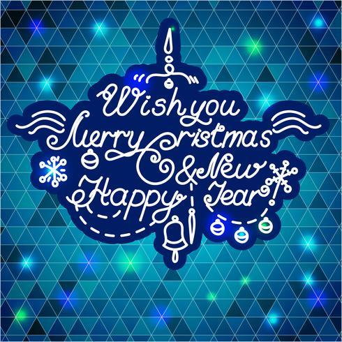 Felice anno nuovo e buon Natale vettore