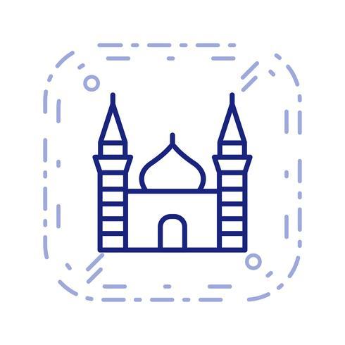Icona di vettore della moschea