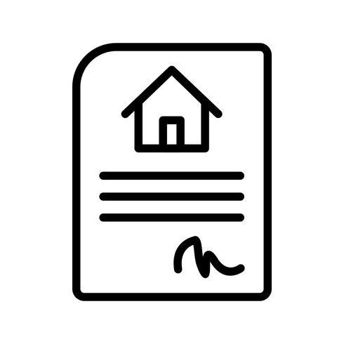 Icona di vettore del contratto di casa