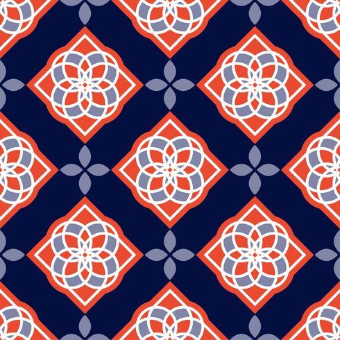 Piastrelle azulejo portoghesi. Modelli senza cuciture splendidi blu e bianchi. vettore