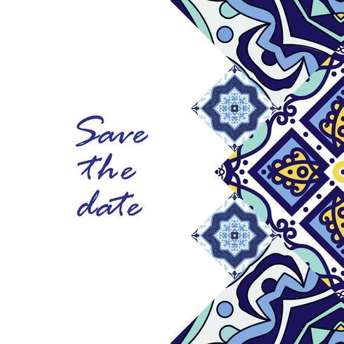 Banner azulejos in stile portoghese per il business. vettore