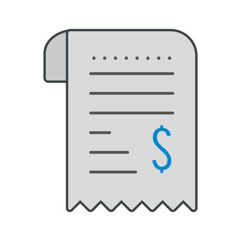 Icona di ricevuta vettoriale
