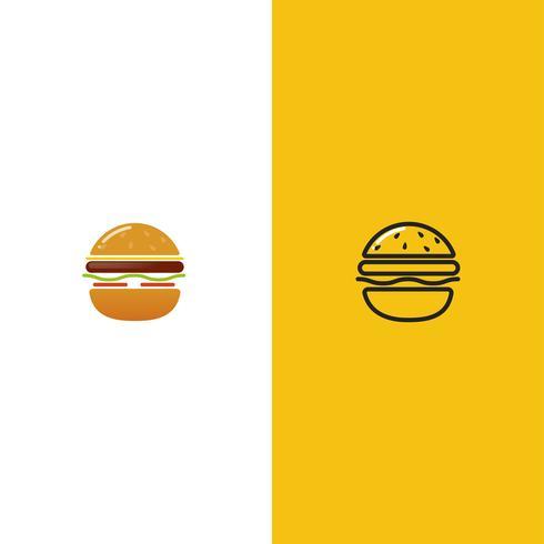 Logo americano classico della casa dell'hamburger vettore