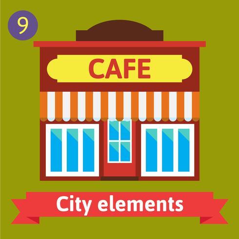 Edificio del caffè, bistrot vettore