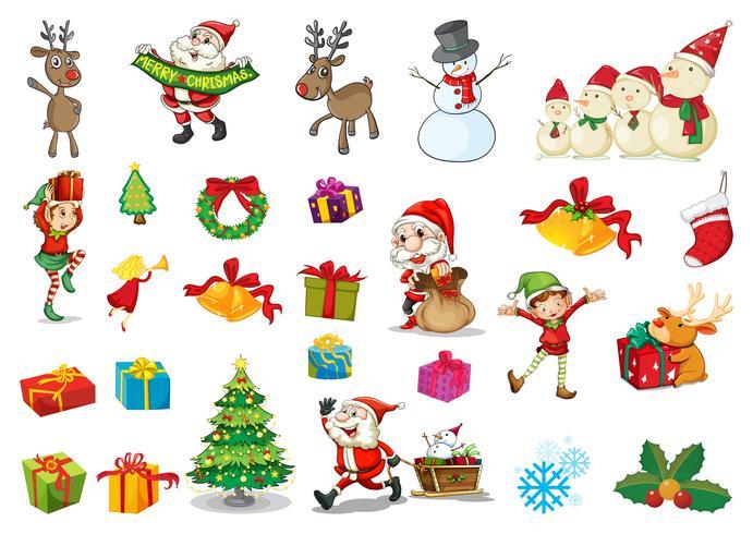 Set di Natale vettore