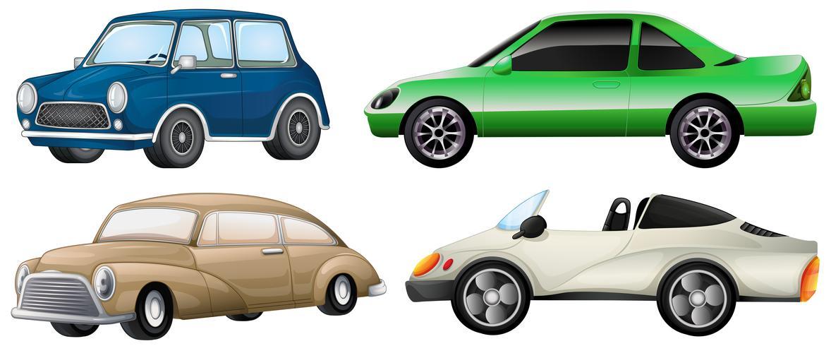 Quattro serie di auto di lusso vettore
