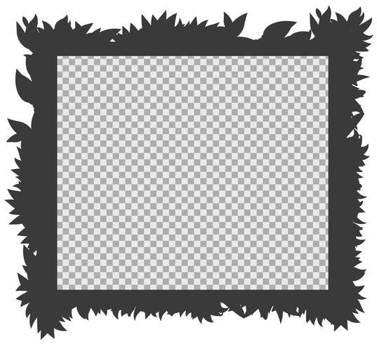 Modello di confine con silhouette erba vettore