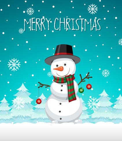 Un modello di Natale pupazzo di neve vettore