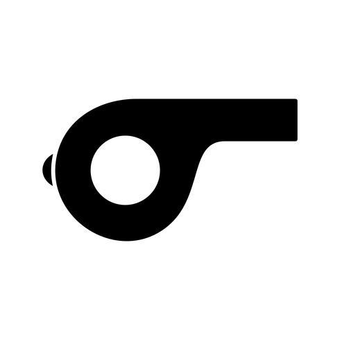 Icona di vettore del fischio