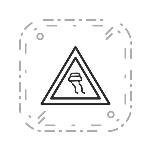 Icona di strade scivolose vettoriale