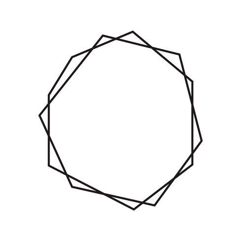 Diamante geometrico a inchiostro nero con posto per il testo. Modello di disegno moderno di vettore per invito a nozze o compleanno, brochure, poster o biglietto da visita