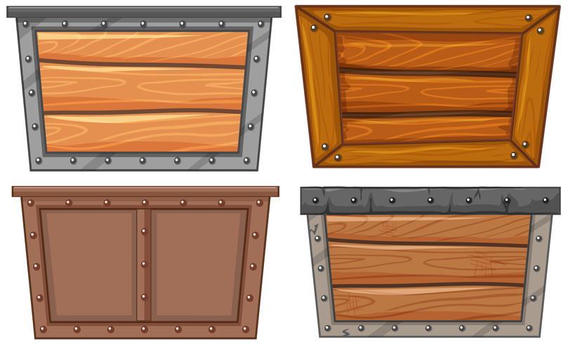 Un set di cornice in legno vettore