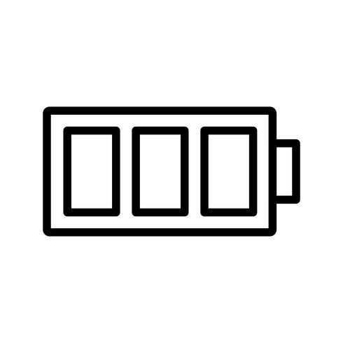 Icona di vettore della batteria completa