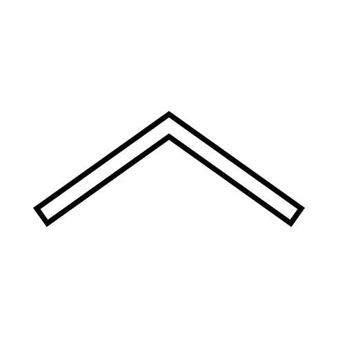 icona della freccia nera vettore