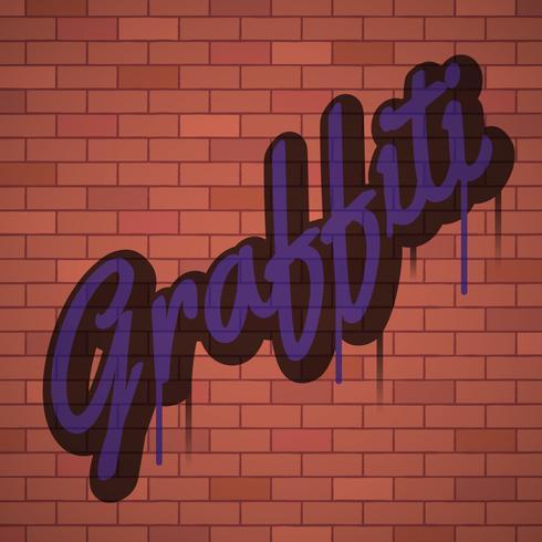 fondo di arte urbana della parete dei graffiti vettore