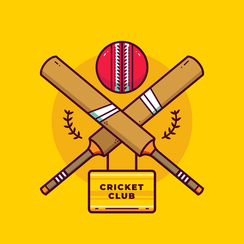 vettore di logo di cricket